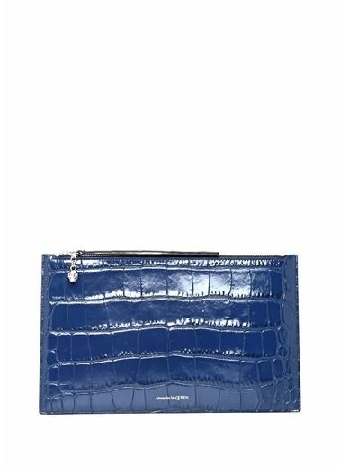 Alexander McQueen Clutch / El Çantası Mavi